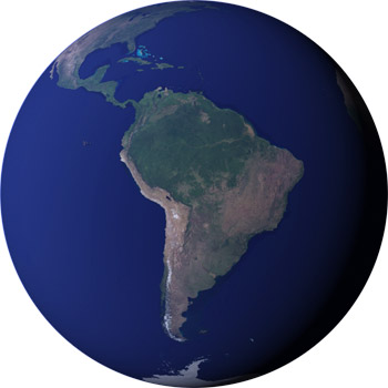 Image of South America from September 2004