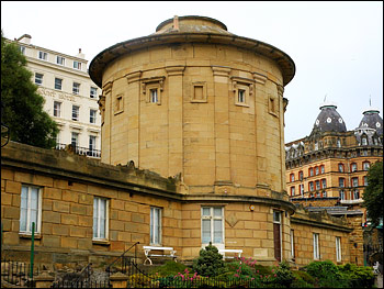 Photograph of the rotunda of the Scarborough Museumn, designed by William Smith.