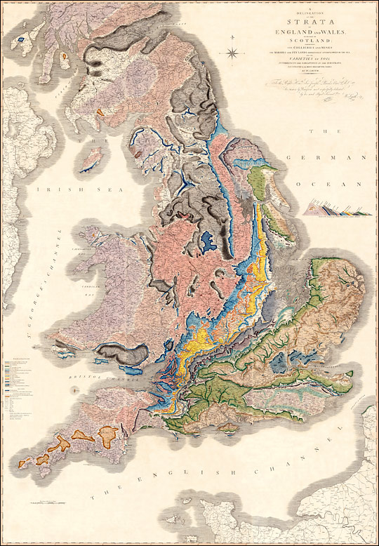A Delineation of the Strata of England and Wales, with part of Scotland.