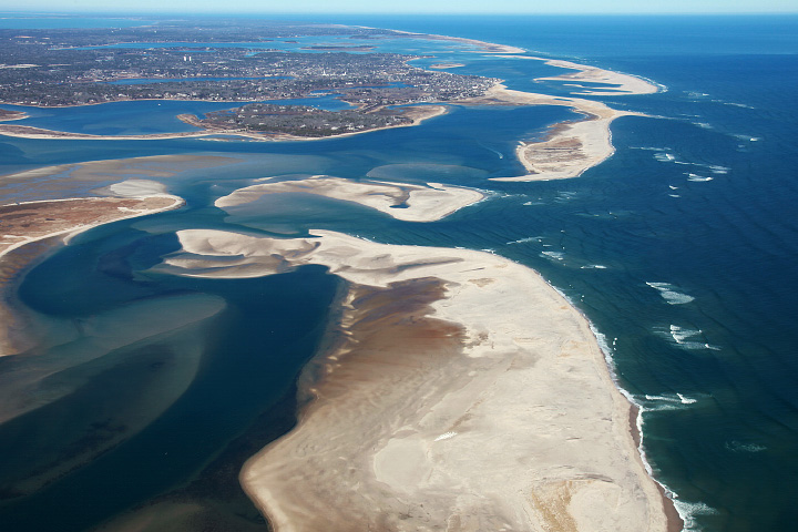 Aerial photograph of Cape Cod.